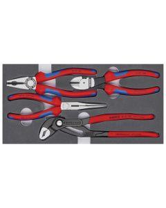 Knipex D4243308515 Zangen-Set Basic 4tlg.Schaumeinlage